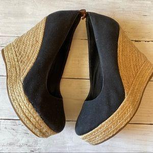 Aldo Black Wedge Heel Size 8.5
